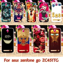 TPU Plastic Painted Case For ASus Z00SD ZC451TG For ASus Zenfone Go ZC451TG ASUS_Z00SD ZenFoneGo 4.5 inch Shell Cover Housing