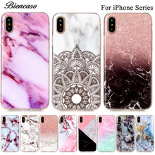 Biencaso Marble Soft TPU IMD Silicone Case For iPhone X 8 4 4S 5 5C 5S SE 6 6S 7 Plus iPod touch 5 6 Back Cover Fundas Coque B02(China)