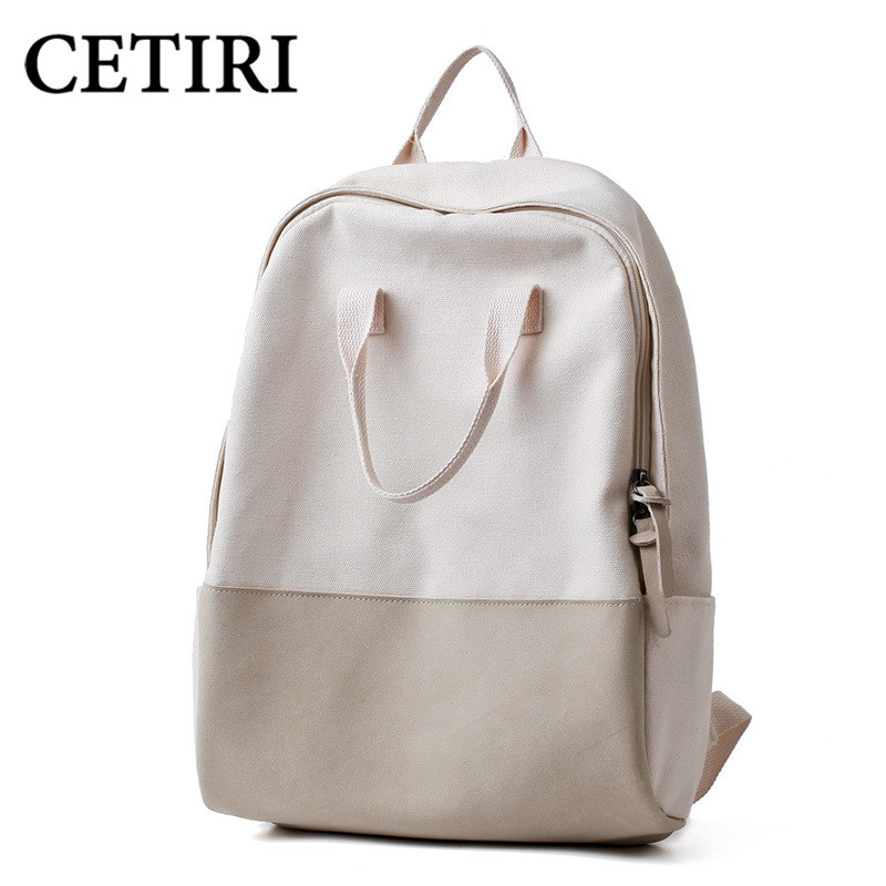 CETIRI Cute Kawaii backpack women Canvas Backpacks For Teenage Girls bag Vintage Harajuku Backpack white School Backpack Rugzak <br>