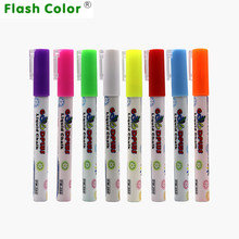 Flashcolor 8 Colours Highlighter Pen 3mm Liquid Chalk Fluorescent Neon Marker LED Glass board Art Marker Pens Office Supplies