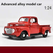 1:24 advanced alloy car models,high simulation Ford F1 pickup truck model,metal diecasts,toy vehicles,free shipping(China)