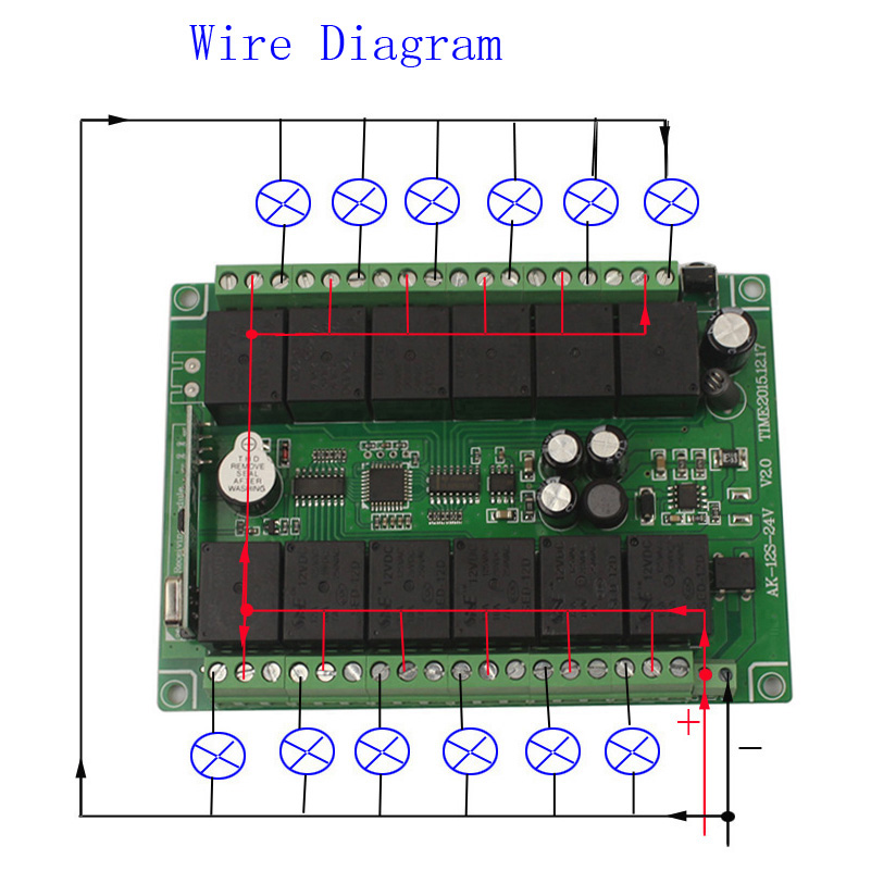 12CH 12V Remote Control Switch Relay Wireless Remote Switch 12 Channel Relay Module 12V 315MHz 433MHz Learn Code (3)