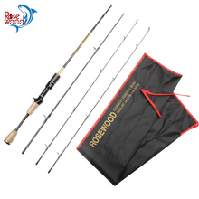 Cheap 2 Top Tips Fishing Rod Casting Carbon UL Casting Rod 1.8m Ultralight Ultra Light Travel 3 Sections Baitcasting Pole China