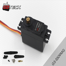1pcs GOTECK GS-5509MG 9kg High Torque Throttle Steering RC Servo Metal Gears(China)