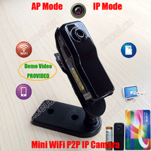 Mini WiFi P2P IP DV Camera Camcorder Web Cam Wireless Phone Sport Vehicle Baby Monitor Motion Video Record TF SD Card MD81S(China)