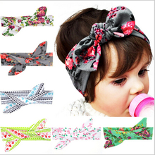 2016 New 12pcs/lot Baby Grils Rabbit Knot Headband Kids Infant Turban Knotted Tie Christmas Hair Accessories Children Headwear
