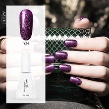 Azure Beauty 12ML 3D Sparkle Glitter UV Nail Gel Lacquer Vernis Semi Permanent UV Gel Lak Soak Off Sequins Led Nail Gel Glue(China)