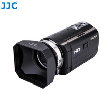 JJC 46mm Camcorder DV Screw Hood Video Camera Lens Hood With Lens Cap and Keeper for Canon Sony Panasonic JVC(China)