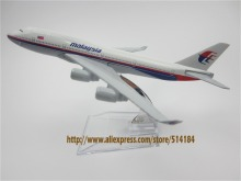 16cm Alloy Metal Airplane Model Air Malaysia Airlines Boeing 747 B747 400 Airways Plane Model W Stand Aircraft