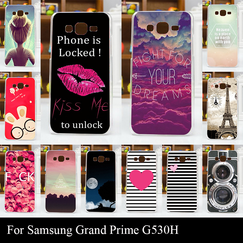 For Samsun Galaxy G530H G5308W Case Colorful Printing Drawing Transparent Plastic Mobile Phone Cover Hard Phone Cases(China)
