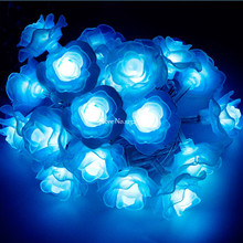 100M led string lights 600 Rose led flower lamp holiday decoration Festival wedding party Christmas light indoor outdoor use(China)