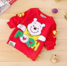 Boys Sweatshirts Long Sleeve cartoon Children T shirts Cotton Baby Boys Girls Pullover Tops Kids Toddler Infant Tees Clothes