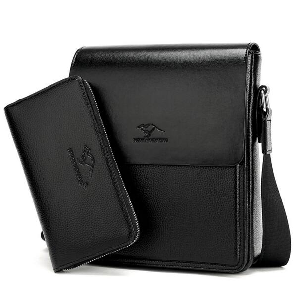 2017 Cowhide Leather Bag Shoulder Handbags Mens Bag, DeMen Messenger Bags Small Mens Sling Bags Black, free shipping<br>
