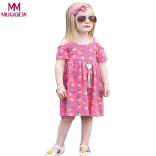2018 Kids Baby Girls Cotton Casual Drees Set Toddler Kids Baby Girls Pineapple Print Princess Dress Outfits Clothes Sundress(China)