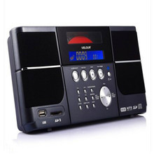 clock alarm FM cd player speaker with remote control can hand on wall or put on desktop support line in usb tf card and line out