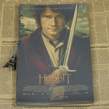 "Home decor movie poster"" The Hobbit Of USA "" retro Kraft Poster paper Wall Sticker Living Room Paint Bar Cafe Decor HX-554(China)"