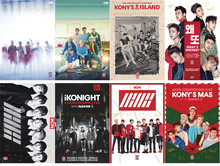 8 pcs/set different designs A3 Posters KPOP IKONIGHT Paintings Wall Pictures Wall Sticker free shipping