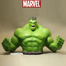 Animation Garage Kid American Superhero Baby Toys: MARVEL Action Figure PVC Dolls Hulk Piggy Bank Model Seal Excellent Gifts