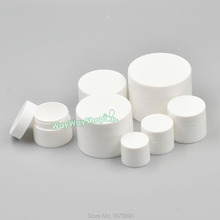 10 PCS Cosmetic Empty jar for Lip Nail Glitter Balm Eyeshadow Dust Pots Plastic 6 Style White Choice(China)