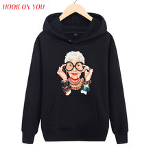 2017 Latest Men Customize Sweatshirt Big Glasses Old Fashion Woman Printed Pullover Hoodies Hipster Trend Fleece Casual Clothing