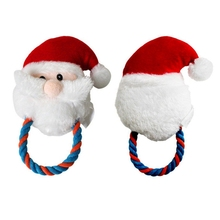 New Pet Doy Cat Xmas Chewing Playing Toys Puppy Cat Christmas Santa Claus Squeaky Toys Mayitr Pet Supplies(China)