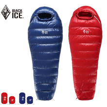 BLACK ICE Outdoor Camping -10 DC Goose Down Sleeping Bag 90% FP700 Ultralight Red/Blue Can Be Zipped to A Double Sleeping Bag(China)