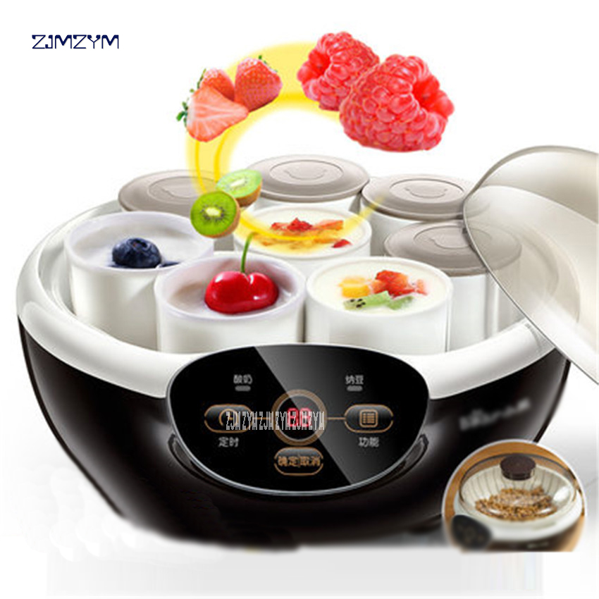 SNJ-A10K5 Fully Automatic Yogurt Makers Household Multifunctional White Natto Rice Wine Machine with Four Glass Liner Sub-cup<br>