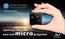 Original UNIC P1 P1H Handheld Micro DLP LED Home Theater Projector Mini Projector Battery Build-in with TF micro SD card slot