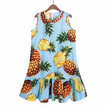 Buy Pineapple/Lemon/Cherry Print Sleeveless Sexy Ruffles Women Dresses Summer Casual Line Party beach dress Vestidos for $6.71 in AliExpress store