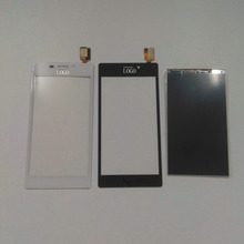 For Sony Xperia M2 Dual SIM S50H D2302 D2305 D2306 Black / White Touch Screen Digitizer Glass Sensor + LCD Display Panel Screen