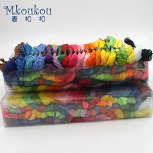 50Pcs/100Pcs random color cross-stitch embroidery thread line,handmade cross-stitch, cotton embroidery sewing thread DIY G34(China)