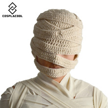 [COSPLACOOL] HOT sale ! Halloween mummy knitted cap cosplay mummy hats men and women generally cap