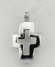 925 Silver Gem/ Pearl Bead Locket Cage Pendant, Sterling Silver Cross Pendant Fitting for Bracelet /Necklace Jewelry Accessory