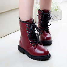 Hot sale kids boots girls boots fashion pu leather Martin boots high quality warm cotton winter boots kids shoes girls shoes