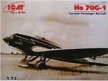 ICM 72233 1/72 World War II German He70G1 bomber Assembly model Toys aircraft(China)