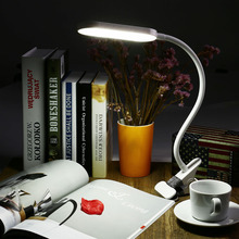5W USB Flexible Clip-On Dimmable LED Table Lamp Clamp Desk Lamp Task Light Book Light, Eye-Protected Adjusted Lighting Modes