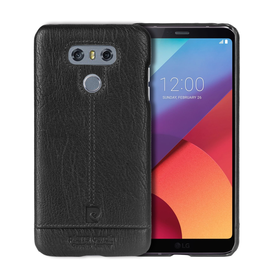 For LG G6 Case Luxury Genuine Leather Hard Slim Cover (6)
