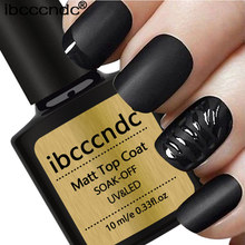 IBCCCNDC Matt 10ml Gel Nail Polish Surface No Light Soak-Off Matt Top Coat UV LED Transparent Color Nail Gel Polish Matte Art(China)