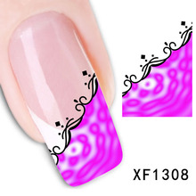 2017 Direct Selling Sale Nails Manicure 2 Sheets Watermark Nail Stickers Flowers Row Of Pens Manufacturers Xf1308