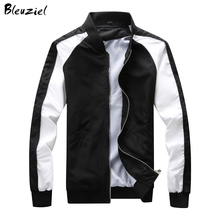 Bleuziel Spring Autumn Black White Hoodies Men Jacket Coat Stand Mens Sweatshirts Casual Sportswear Brand Clothing - bliey store