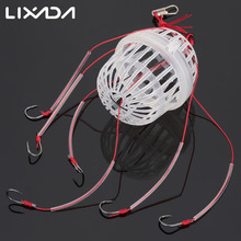 Lixada Carbon Steel Plastic Carp Fishing Hook Sea Monster with 6 Strong Hooks Fishing Tackle  for Sea Beach Lake Fishing Pesca