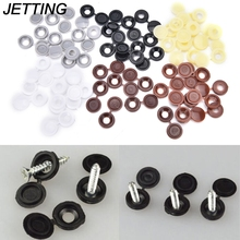JETTING 10pcs/lot Hinged Plastic Screw Cover Cap Fold Snap Caps For Car Home Furniture Decor 6 Colors(China)