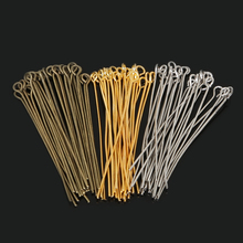 Wholesale 220pcs/lot 45mm Antique Bronze/Rhodium/Gold Color Eye Pins Head Pin DIY Jewelry Making Accessories Craft(China)