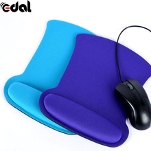 EDAL NEW Thicken Soft Sponge Wrist Rest Mouse Pad For Optical/Trackball Mat Mice Pad Computer Durable Comfy Mouse Mat(China)