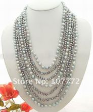 7 strands Grey Pearl Necklace