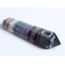 Bestsale Natural Quartz  Crystal Portable Long Tobacco Free Weed Fluorte Smoking Pipe