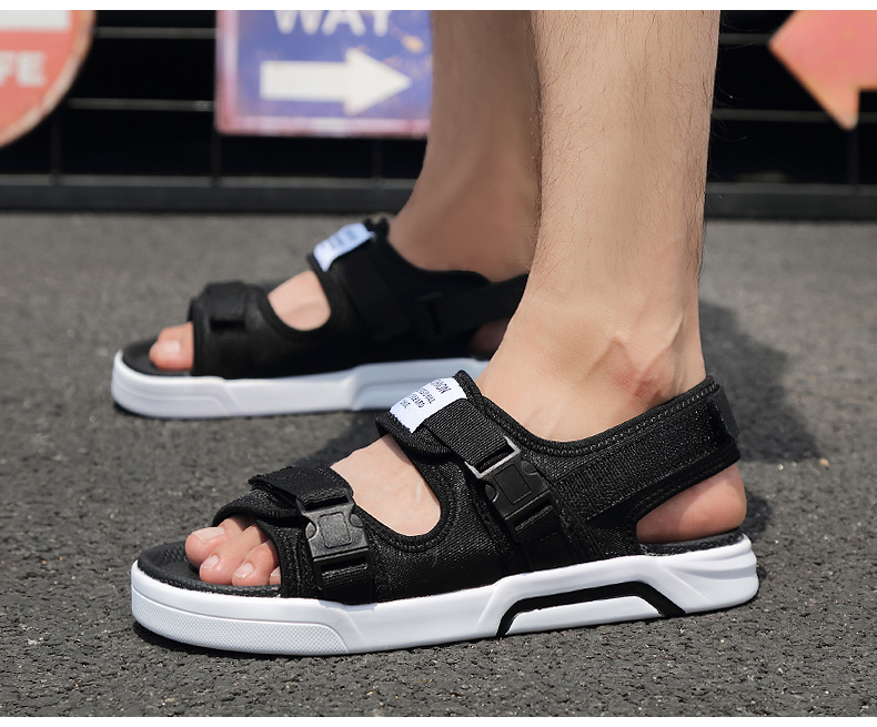 YRRFUOT Summer Big Size Fashion Men's Sandals Outdoor Hot Sale Trend Man Beach Shoes High Quality Non-slip Adult Flats Shoes 46 15 Online shopping Bangladesh