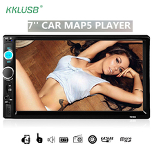 Car Stereo Bluetooth auto radio audio HD 7 inch 2 DIN Touch Screen 12v autoradio MP5 Player TF USB AUX Support Rear View Camera