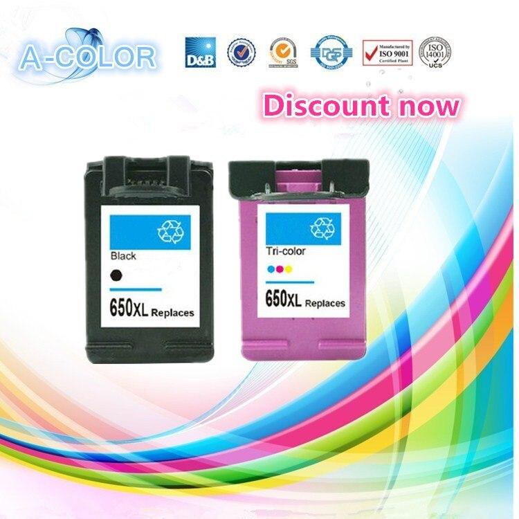 2 Piece for HP650 Compatible Ink Cartridge For HP 650 650XL Black &amp; Tri-color Ink For HP Deskjet 1015 1515 2515 2545 2645 3515<br><br>Aliexpress