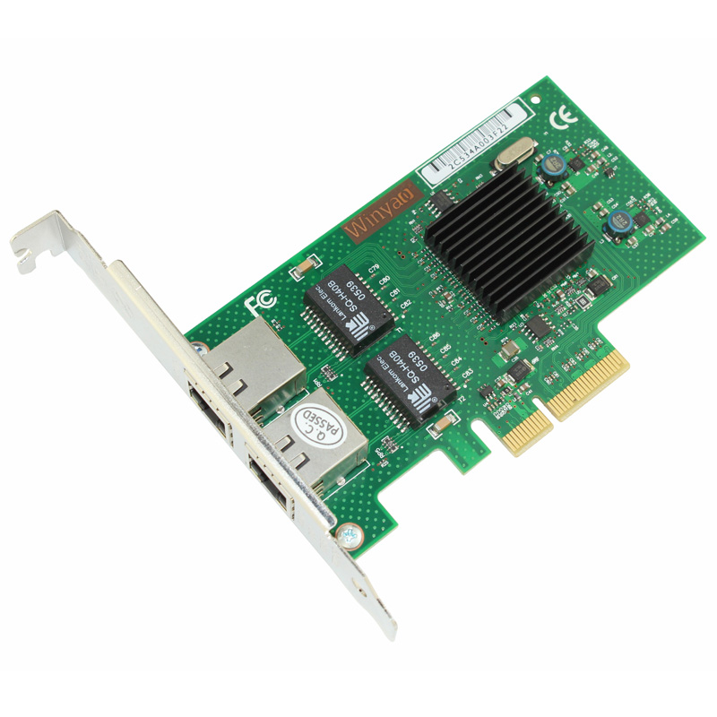 2 Port Gigabit Ethernet Network Adapter 1000M PCIe X4 NIC Card JL82576EB Chipset